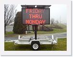 Solar Power LED Sign Rental Equipment