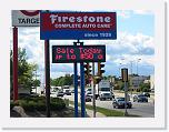 Outdoor LED Sign, Firestone Tires